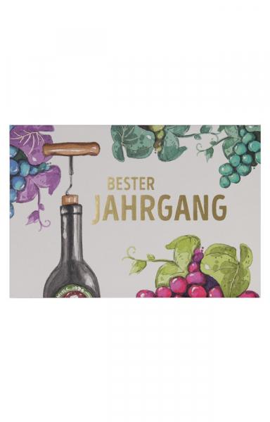 """Edle Geburtstagskarte zum Weingeschenk """"Bester Jahrgang"""""""