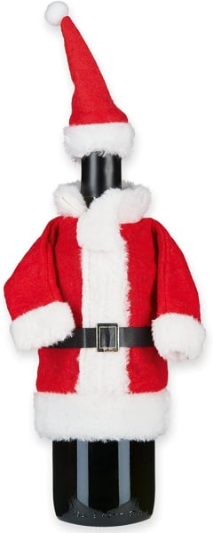 Flaschendeko Nikolauskostüm Claus